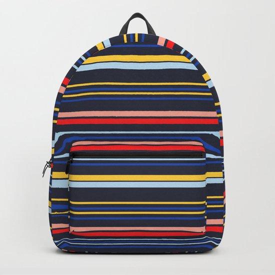 Stripes Blue Backpack