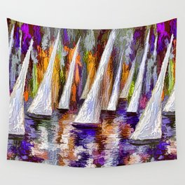 Sails To-Night Wall Tapestry