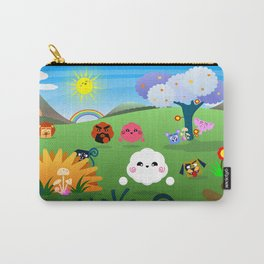 Happy Colorful Planet 01 Carry-All Pouch