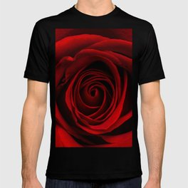Dark Red Aesthetic Vintage Retro Roses Background T-shirt