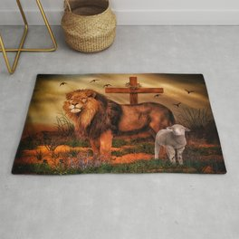 The Lion And The Lamb Rug