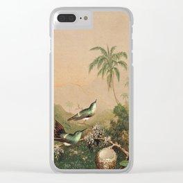 Martin Johnson Heade - Brazilian Hummingbirds 1864 Clear iPhone Case