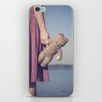 teddy bear iPhone & iPod Skins featuring Teddy by Maria Heyens