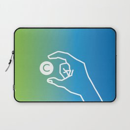 C fingerspelled Laptop Sleeve