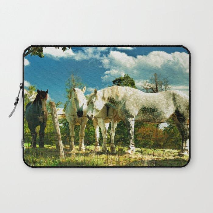 Amish work horses Laptop Sleeve