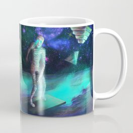The Aliens Attack The Egyptian Pyramids  Coffee Mug