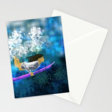 Under the wave Stationery Cards