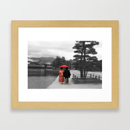 Getting married Matsumoto  Japan Framed Art Print