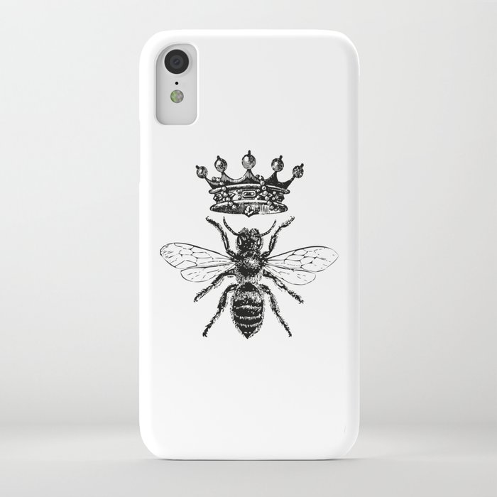 queen bee | black and white iphone case