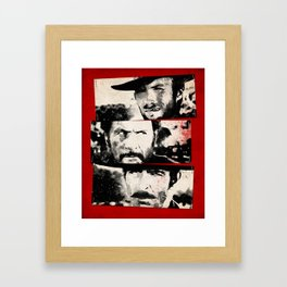 the good,the bad,and the ugly Framed Art Print