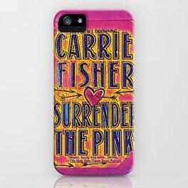 pink surrender iPhone Case