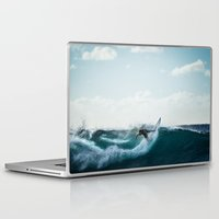 surfing Laptop & iPad Skins featuring Surfing  by Limitless Design