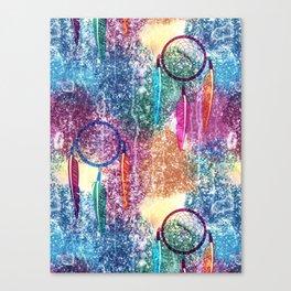 Watercolors&Dreamcatchers Canvas Print