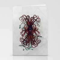 cthulu Stationery Cards featuring Cthulu by Sybille Sterk
