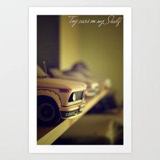 Toy cars on my Shelf Art Print