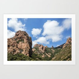 Seacoast of the Esterel Natural Park in French Riviera Art Print