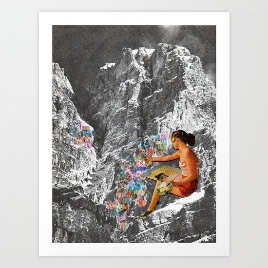 Painting Mountains Art Print
