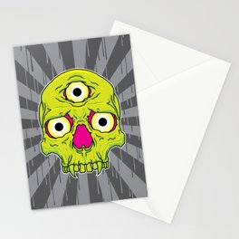 3 Eyed Jackass (green) Stationery Cards