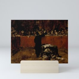 William Merritt Chase - Sketch for a Picture - Columbus before the Council of Salamanca (B) (Christo Mini Art Print