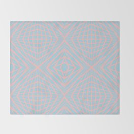geometric, pink on blue Throw Blanket