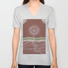 Rooted and Reaching Unisex V-Neck