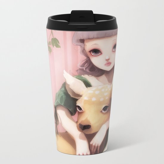 My dear lady deer... Metal Travel Mug