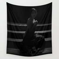 shadow Wall Tapestries featuring Shadow by Red Drago