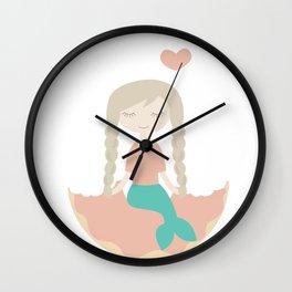 Even the Mermaid loves Donut Wall Clock
