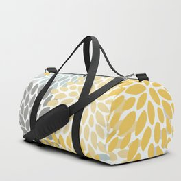 Floral Pattern, Yellow, Pale, Aqua, Blue and Gray Duffle Bag