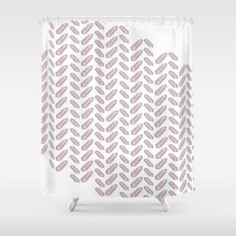 Quartz Fishbone Shower Curtain