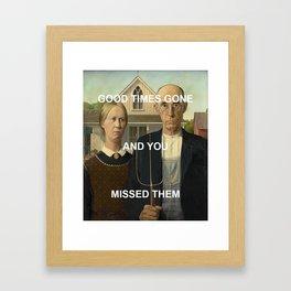 American Gratitude Framed Art Print