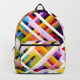 Colorful Abstract Symmetric Grit Art - Ratatoskr Backpack