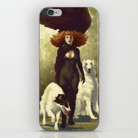 dogs iPhone & iPod Skins featuring Dogs by Kelly Perry