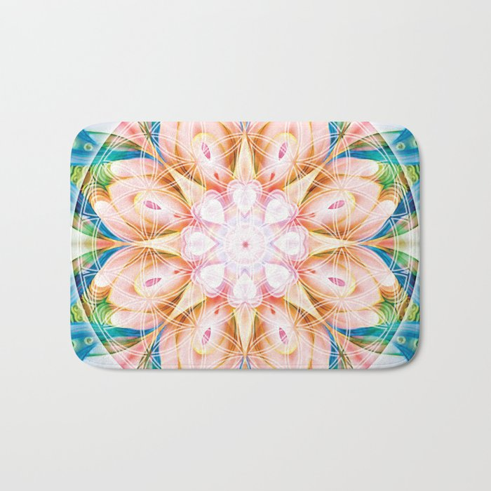 Flower of Life Mandalas 11 Bath Mat