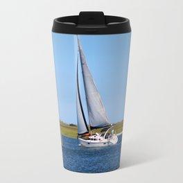 Sailing At Masonboro Island Travel Mug