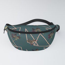 Pressed Pansies and Pink Triangles Fanny Pack