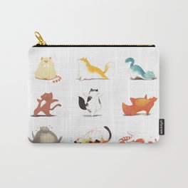 Cats and Yoga Carry-All Pouch