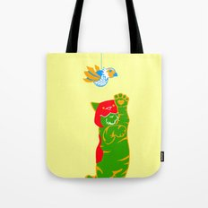 Here Battle Kitty Kitty Tote Bag