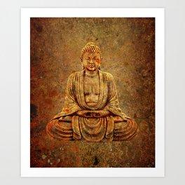 Sand Stone Sitting Buddha Art Print