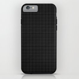 Simple black and white grid lines pattern iPhone Case