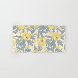 yellow peonies Hand & Bath Towel
