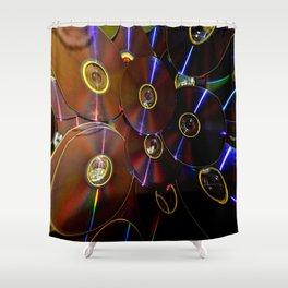 laser cd  Shower Curtain