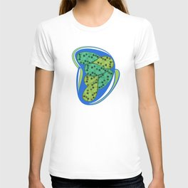 Green petal T-shirt