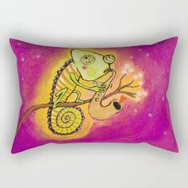 Chameleon in love Rectangular Pillow