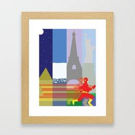 The Fastest Man Alive! Framed Art Print