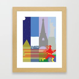 The Fastest Man Alive! Framed Art Print