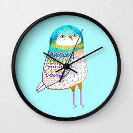Blue Owl. Wall Clock