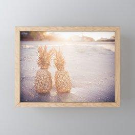 Golden Pineapples Framed Mini Art Print