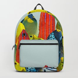 Tropical Fish Pattern Home decor Duck Egg Blue  Backpack