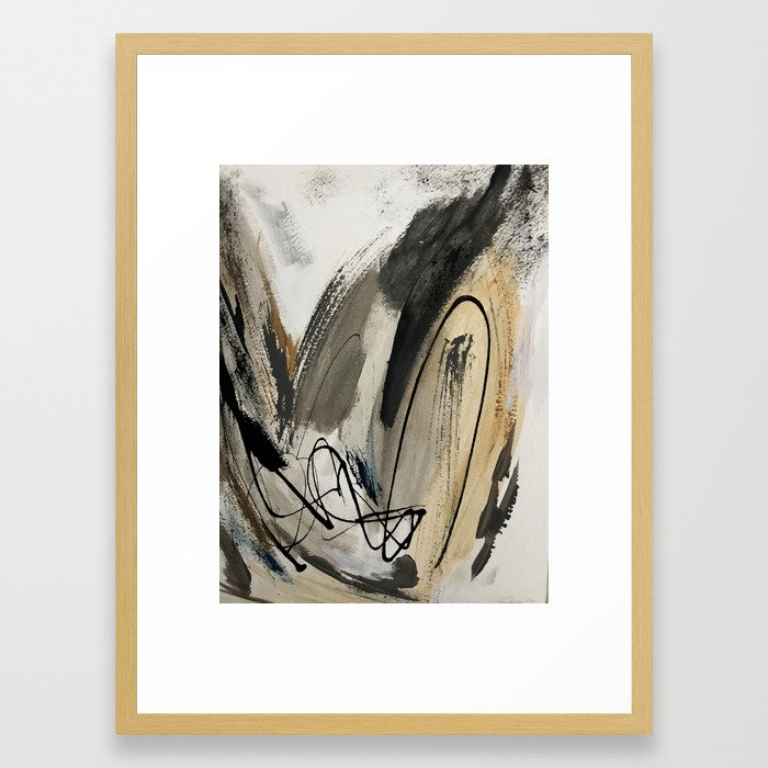 9245731810b Drift  5   a neutral abstract mixed media piece in black